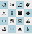 set of 16 editable lifestyle icons includes vector image