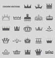 Set of crowns and tiaras vector image