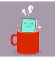 Smart Phone Coffee vector image vector image
