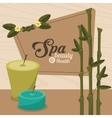 spa beauty and health aroma candles with bamboo vector image vector image