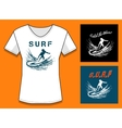 Surfing Print DesignTemplate vector image vector image