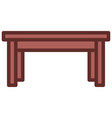 table icon filled line style eps10 vector image vector image