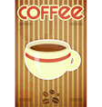 Template menu of coffee vector image vector image