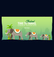 thailand time to travel banner vector image vector image