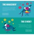 Time management horizontal website templates vector image