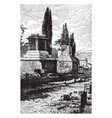 tombs of pompeii people being buried in chamber vector image vector image