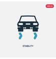 two color stability icon from transport concept vector image vector image