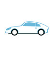 white sport sedan car side view in flat style vector image vector image