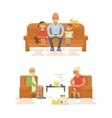 Grandparents Cartoon characters vector image