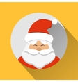 Santa Claus flat style icon vector image