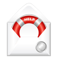 Open Envelope With Red Life Buoy vector image