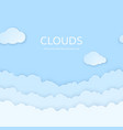 abstract horizontal seamless paper clouds paper vector image vector image