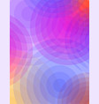 abstract pink and blue circles of color and vector image vector image