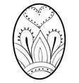 adult coloring bookpage an easter egg image for vector image vector image