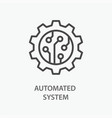 automated system line icon on white background