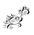 black floral ornament vector image vector image