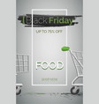 black friday food sale banner template vector image