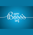 boss day logo line concept design background vector image vector image