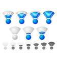 bright blue wireless signal strength indicator vector image vector image