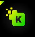 business corporate square letter k font logo vector image