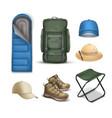 camping stuff vector image vector image
