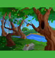 cartoon summer background for a game art with old vector image