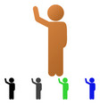 child hitchhike flat gradient icon vector image vector image
