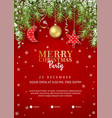christmas party poster vector image