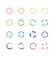 color circle reload arrows icons round vector image vector image