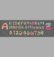 colorful fun alphabet and numbers festive and fun vector image