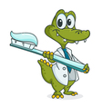 crocodile dentist vector image