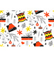 cute christmas pattern in scandinavian style vector image vector image