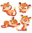cute tiger cub cartoon character funny animal