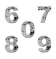 decorative numbers 6 7 8 9 0 vector image