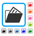 document folder framed icon vector image