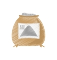 Drawing sack concrete construction tool vector image