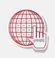 earth globe with cursor new year reddish vector image vector image