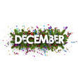 festive december banner with colorful serpentine vector image vector image