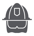 firefighter helmet glyph icon equipment and fire vector image vector image