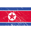Flag of North Korea with old texture vector image
