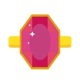 Flat design of red ruby gemstone vector image vector image