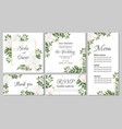 floral template for wedding invitations orchid vector image vector image