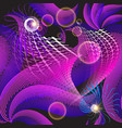 flowing illuminated lines 3d seamless pattern vector image