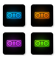 glowing neon bluetooth speakers icon isolated on vector image vector image