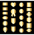 gold icon set vector image vector image
