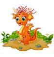 happy dragon cartoon vector image