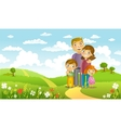 Happy family vector image vector image