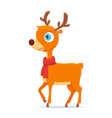happy little deer vector image vector image