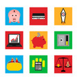 icons on business and finance vector image vector image