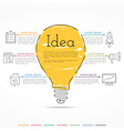 Idea Concept Infographics vector image